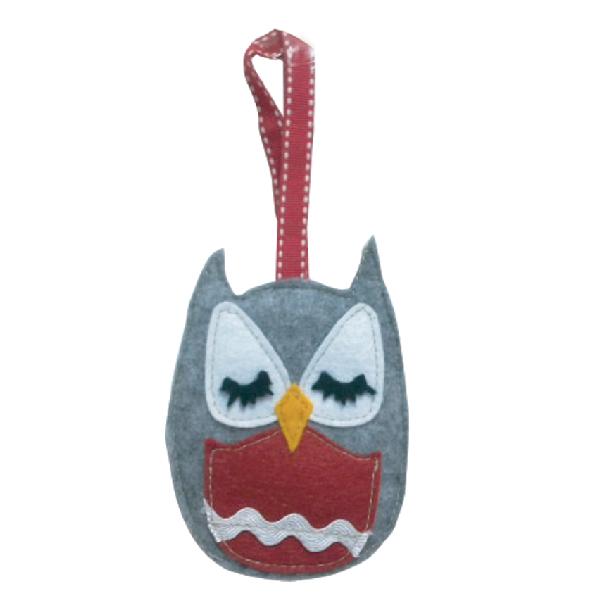FB10126 Ollie Owl felt hanging dec Image