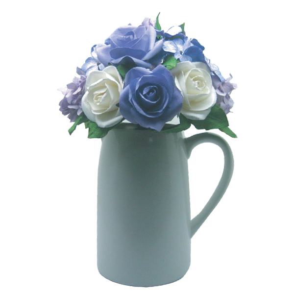 FA10014 Purple Rose Flower in ceramic jug Image