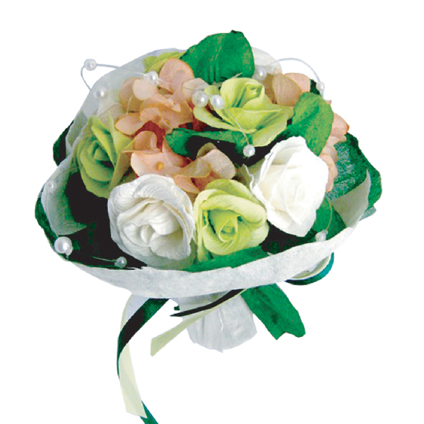 FA10011 Possy of white rose Image