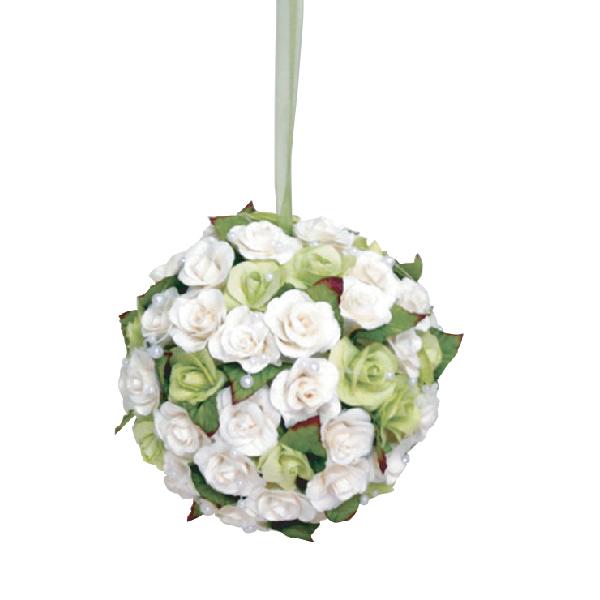FA10006 White rose pomander Image